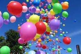 Латексные шары в летний период