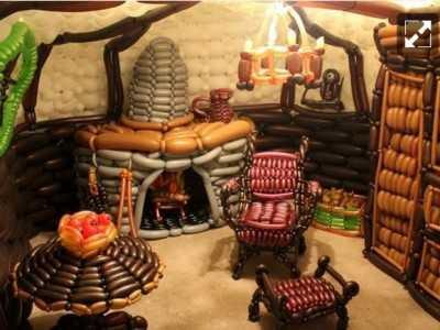 Строим домик для ребенка из шаров! + Видео