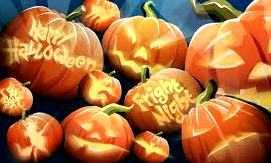 Оформление шарами на Хеллоуин